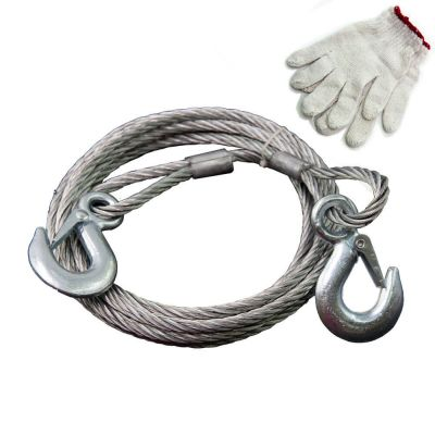 Auto Emergency 3TON 3M Steel Wire Towing Rope for Car and bus Auto