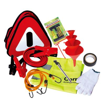 Portable Roadside Car Emergency Kit With Booster Cable